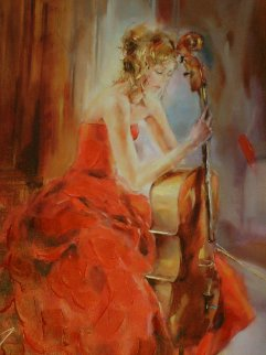 Red Note II 2009 Embellished Limited Edition Print - Anna Razumovskaya