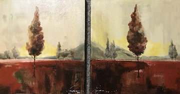 Silence 3 Diptych 2004 18x36 Original Painting by Anna Razumovskaya