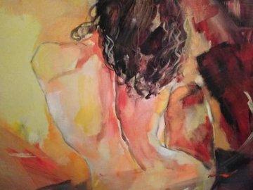 Joy of Life II 2004 24x30 Original Painting - Anna Razumovskaya