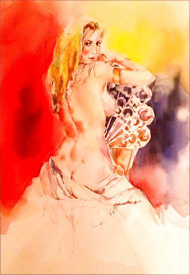 Essence 2 2007 Watercolor 29x25 Watercolor by Anna Razumovskaya