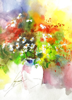 Flowers 5 Watercolor 2008 17x20 Watercolor - Anna Razumovskaya