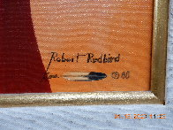 Untitled Portrait of a Native American Man 39x33 Original Painting by Robert Redbird, Sr. - 2