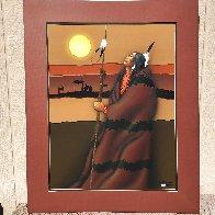 Go My Son 1983 36x31 Works on Paper (not prints) by Robert Redbird, Sr. - 2