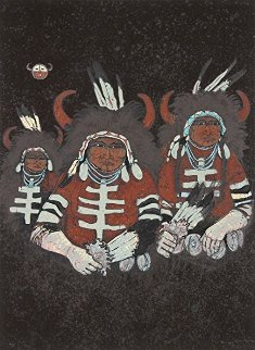 Northern Plains Buffalo Dancers 1980 Limited Edition Print by Kevin Redstar