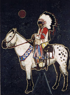 Brave on Horse 1982 Limited Edition Print by Kevin Redstar