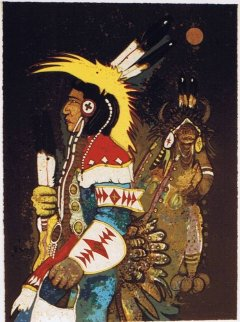 Crow Dancers At Midnight 1982 Limited Edition Print by Kevin Redstar