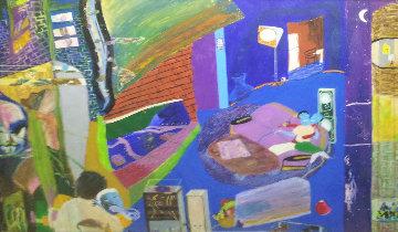 Branch Sequence 1987 36x48 Super Huge Original Painting - Reginald K. Gee