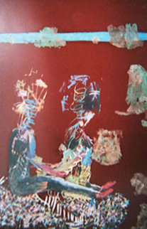 Lovers 1997 31x43 Huge Original Painting - Reginald K. Gee