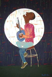 Mnlumbwe: Live At The Enthusium 36x24 Original Painting by Reginald K. Gee