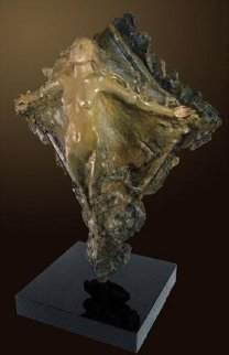 Prismsoul Bronze Sculpture 25 in 64 in with Pedestal Sculpture - Ira Reines