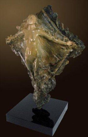 Prismsoul Bronze Sculpture 25 in 64 in with Pedestal Sculpture by Ira Reines