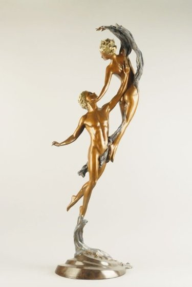 Love Arabesque Bronze Sculpture 2002 39 in Sculpture by Ira Reines
