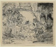 Adoration of the Shepherds Limited Edition Print by  Rembrandt - 2