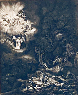 Angel Appearing Before the Shepherds   Limited Edition Print -  Rembrandt