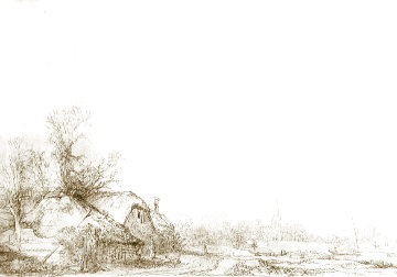 Cottages Beside a Canal: A View of Diemen Limited Edition Print -  Rembrandt