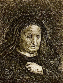 Artist's Mother With Hand on Her Chest Limited Edition Print -  Rembrandt