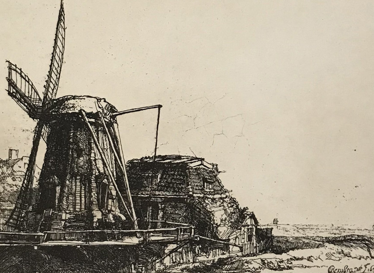 Windmill Limited Edition Print by  Rembrandt Millennium Edition