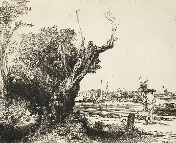 River Scene Limited Edition Print -  Rembrandt Millennium Edition