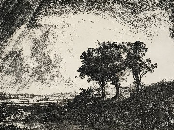 Three Trees Limited Edition Print by  Rembrandt Millennium Edition