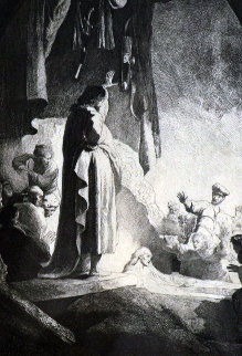 Raising of Lazarus  Limited Edition Print by  Rembrandt Millennium Edition