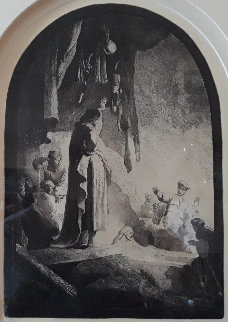 Raising of Lazarus 1630 Limited Edition Print -  Rembrandt Millennium Edition