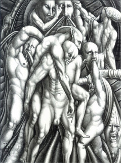 Metamorphosis of the So Called Human Race 15x12 Drawing -  Remo