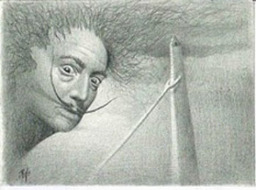 Lost in Buenos Aires, Salvador Dali 2008 Portrait Drawing Drawing by  Remo