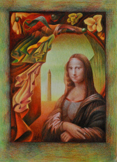 Mona Lisa Our Lady of the Flowers 2011 Drawing by  Remo