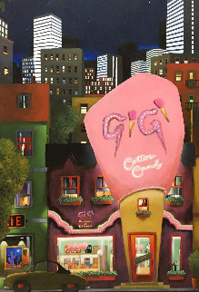 Gigi's Cotton Candy 2003 52x28 Original Painting - Rene Lalonde