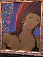 Striptease 1995 26x24 Original Painting by Rene Lalonde - 1