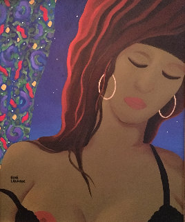 Striptease 1995 26x24 Original Painting by Rene Lalonde