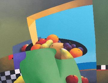 Infinite Equilibrium 2004 28x30 Original Painting - Rene Lalonde