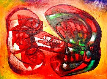 A Jamaica 2006 33x43 Original Painting - Raul Enmanuel