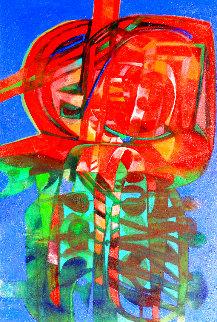 La Silueta Vegetal 2007 44x64 Huge Original Painting - Raul Enmanuel