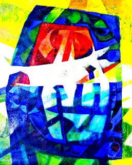 Los Dosis 2007 50x40  Huge Original Painting - Raul Enmanuel