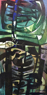 Simbolo Totemico 2005 80x40 Huge  Original Painting - Raul Enmanuel