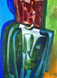 La Posee Correcta 2007 44x34 Original Painting - Raul Enmanuel
