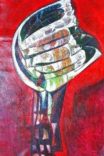 El Arco 2008 65x45 Huge Original Painting - Raul Enmanuel