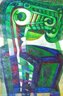 El Otro 2007 60x40 Huge Original Painting - Raul Enmanuel