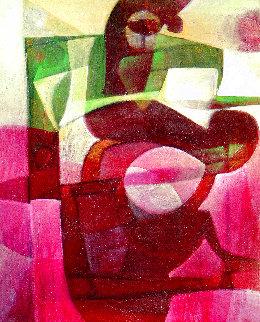 Sagitario 2004 56x46 Huge Original Painting - Raul Enmanuel