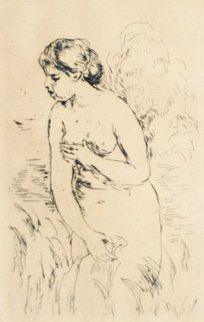 Baigneuse Debout, a Mis Jambes 1910 Limited Edition Print by Pierre Auguste Renoir