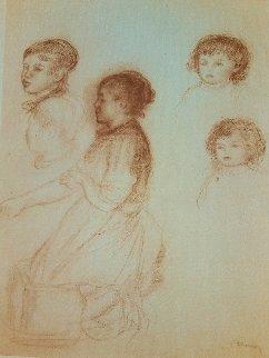 Têtes De Jeunes Filles Près Du Lavoir 1960 Limited Edition Print - Pierre Auguste Renoir