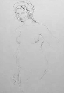 Standing Nude 1910 Limited Edition Print - Pierre Auguste Renoir