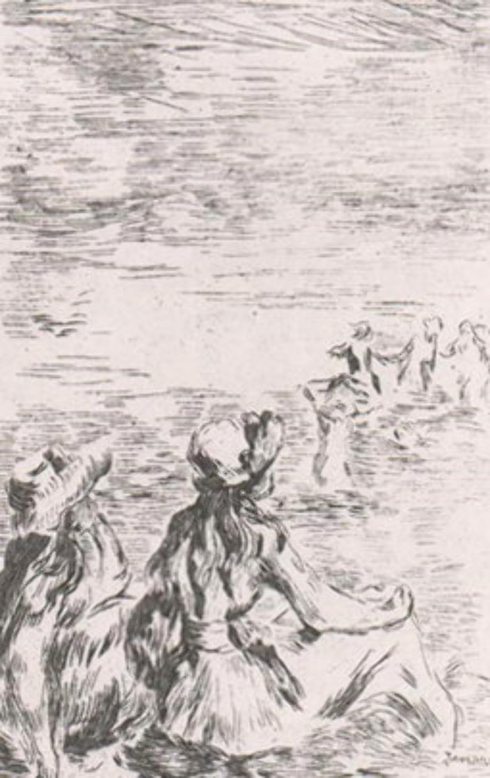 Sur La Plage a Berneval   Limited Edition Print by Pierre Auguste Renoir