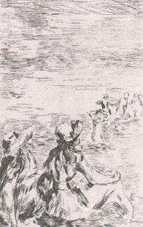 Sur La Plage a Berneval   Limited Edition Print - Pierre Auguste Renoir