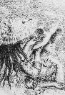 Le Chapeau Epingle - La Fille De Berthe Morisot Et Sa Cousine 1910 Limited Edition Print - Pierre Auguste Renoir