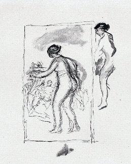 Femme Au Cep De Vigne, 4th Variante 1904 Limited Edition Print - Pierre Auguste Renoir