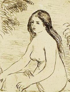 Femme Nue Assise 1906 Limited Edition Print - Pierre Auguste Renoir