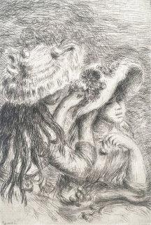 Le Chapeau Épinglé (La fille de Berthe Morisot et sa cousine), 1894 Works on Paper (not prints) - Pierre Auguste Renoir