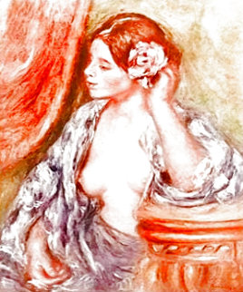 Woman At the Vanity Monotype Limited Edition Print - Pierre Auguste Renoir